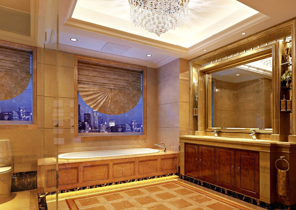 RGB LED világítás a fürdőszobában
