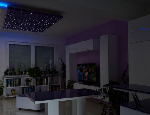 Csillagos égbolt mennyezeti lámpa négyzetméterenként 150 db LED-del